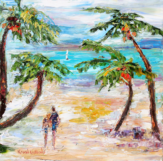 Original-oil-painting-Tropical-Romance-Landscape-palette-knife-fine-art-impressionism-by-Karen-Tarlton-eBay-016i