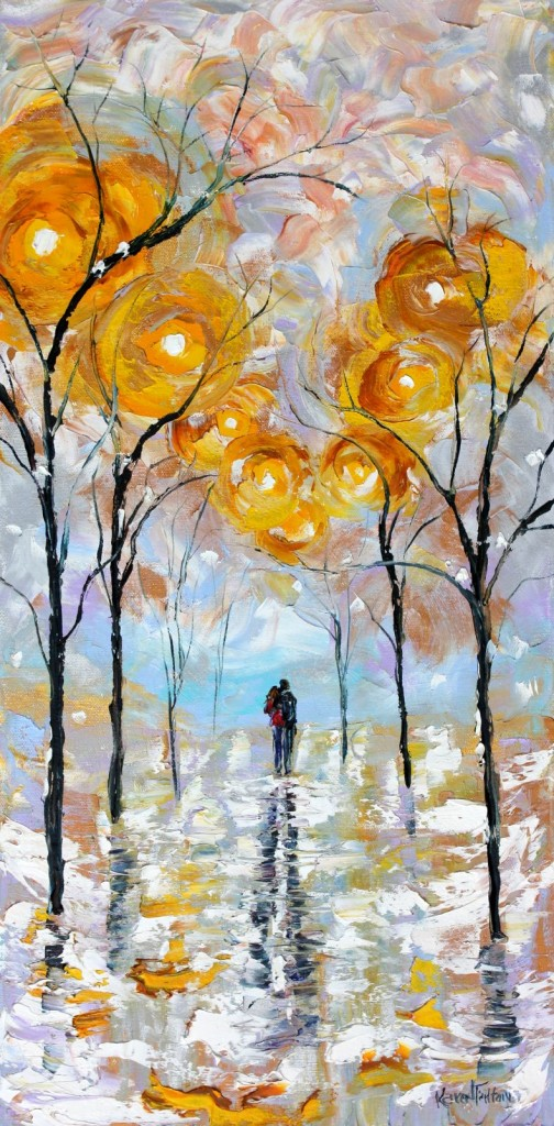 Original-oil-painting-Winter-Romance-Landscape-palette-knife-impressionism-by-Karen-Tarlton-eBay-4010i-504x1024