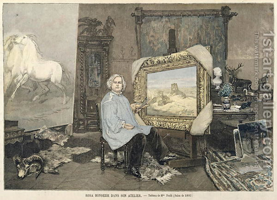 Rosa Bonheur (1822-99) in her studio, from Le Petit Journal 3rd June 1893 by Madame Consuelo-Fould