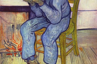 Sorrowing Old Man ('At Eternity's Gate') is an oil painting by Vincent van Gogh that he made in 1890 in Saint-Rémy de Provence based on an early lithograph. The painting was completed in early May at a time when he was convalescing from a severe relapse in his health and some two months before his death, generally accepted as a suicide.