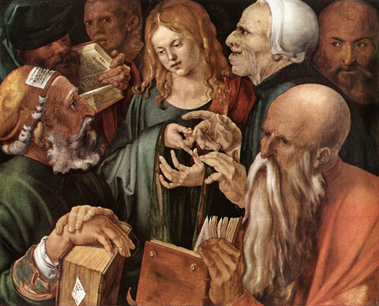 Duerer_1506_Christ-among-the-doctors