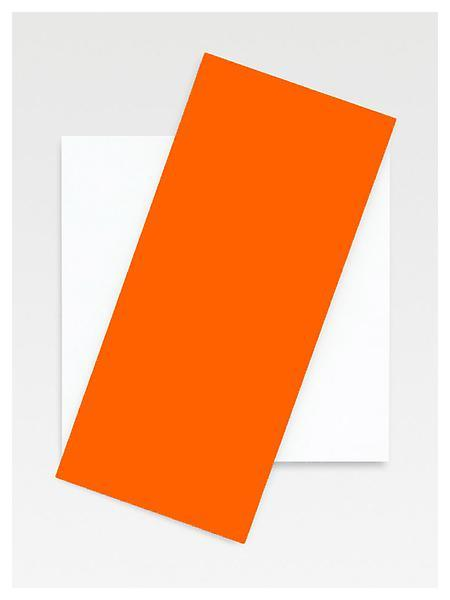 Ellsworth Kelly, Orange Diagonal 2008 Oil on canvas, two joined panels 87 1/4 x 60