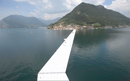 Christos latest installation - 'The Floating Piers' (AP Photo/Luca Bruno)