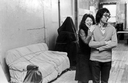 New York City, 1976 Christo and Jeanne-Claude in Christo's studio Photo: Fred W. McDarrah/Getty Images © 1976 Christo