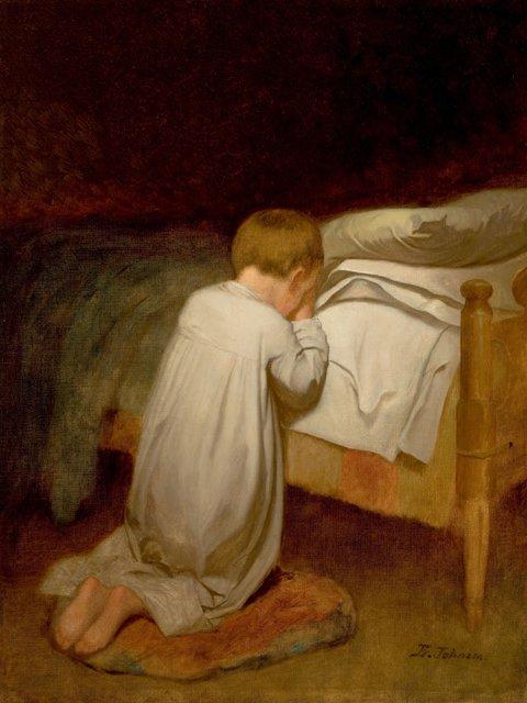 Eastman-Johnson-Child-at-Prayer-circa-1873