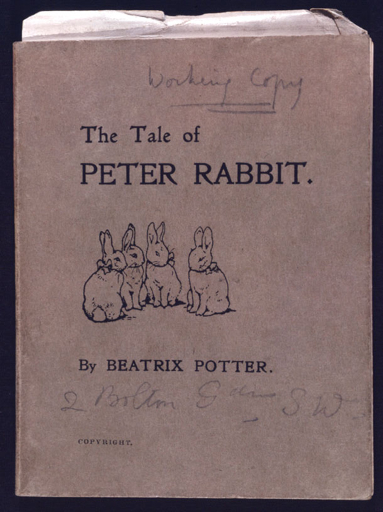 Privately printed edition of The Tale of Peter Rabbit,-1901