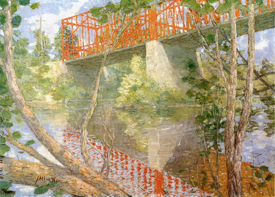 Red Bridge - His most famous painting.