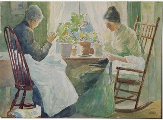 Two Women Sewing