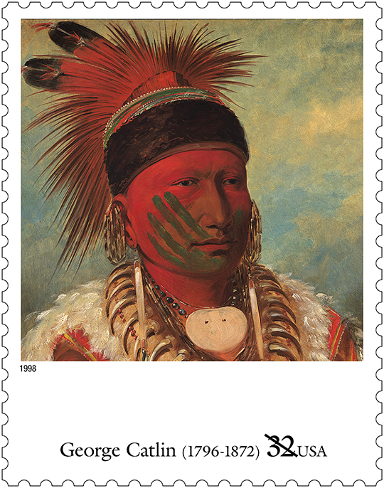 The White Cloud, Head Chief of the Iowas, from the 1840s.