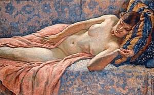 Theo-Van-Rysselberghe-Etude-of-Female-Nude