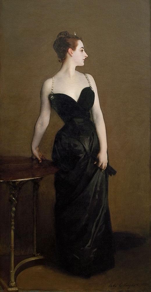Madame X John Singer Sargent -- American painter 1884 Metropolitan Museum, New York Oil on canvas 208.6 x 109.9 cm (82 1/8 x 43 1/4 in.)