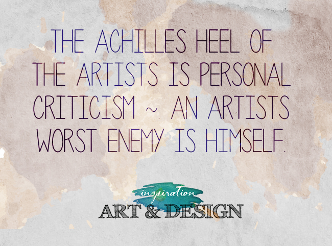Artists Traits- Critical of Self