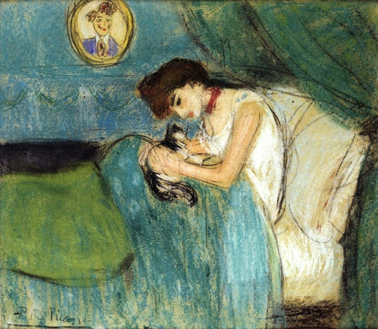 Pablo Picasso (Spanish artist, 1881–1973) Woman with Cat 1900