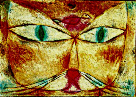Cat and Bird painting by Klee.