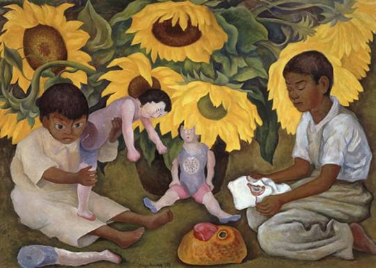 Diego-Rivera-Sunflowers