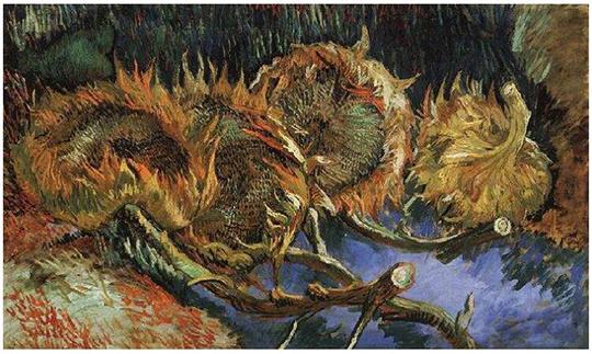 Four-Cut-Sunflowers