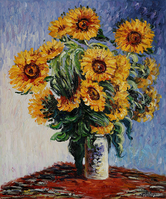 Sunflowers-by-Claude-Monet