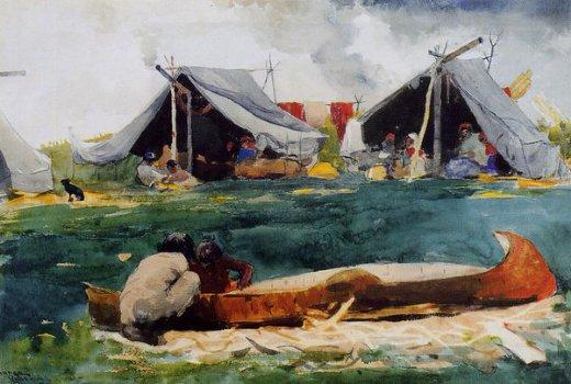 Winslow Homer  - Montagnais Indians