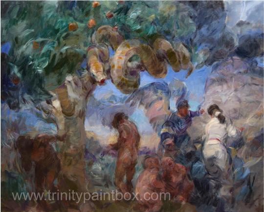 The-Annunciation-120cm-x-150cm-oil-on-canvas-Bob-Booth