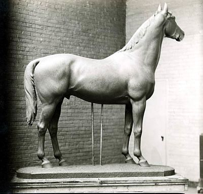Laura Gardin Fraser's maquette of the bronze sculpture she created as a grave marker for Fair Play, the sire of Man O' War, ca. 1930.