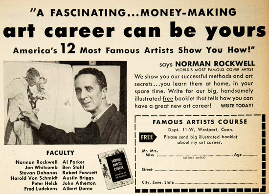 Norman Rockwell Famous Artists AD