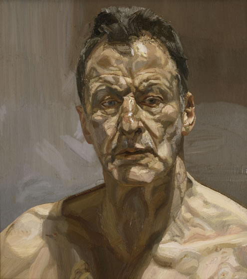 Reflection (Self-portrait), 1985 Private Collection, Ireland © The Lucian Freud Archive. Photo: Courtesy Lucian Freud Archive