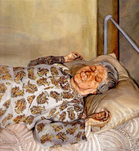 The Painter's Mother Resting I - Lucian Freud, 1975-1976