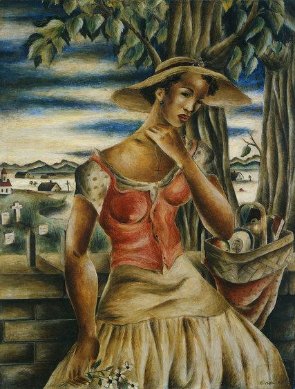 """Southern Landscape,"" from 1941. Credit Eldzier Cortor, Michael Rosenfeld Gallery, LLC, New York"