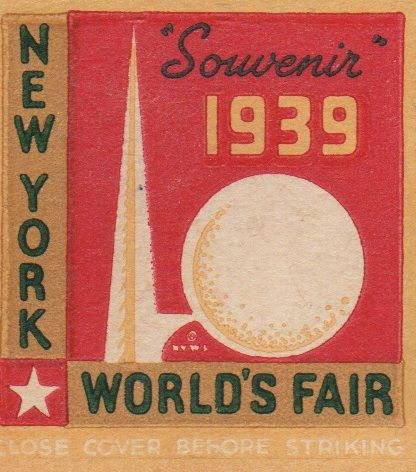 Worlds Fair Matchbook 1939