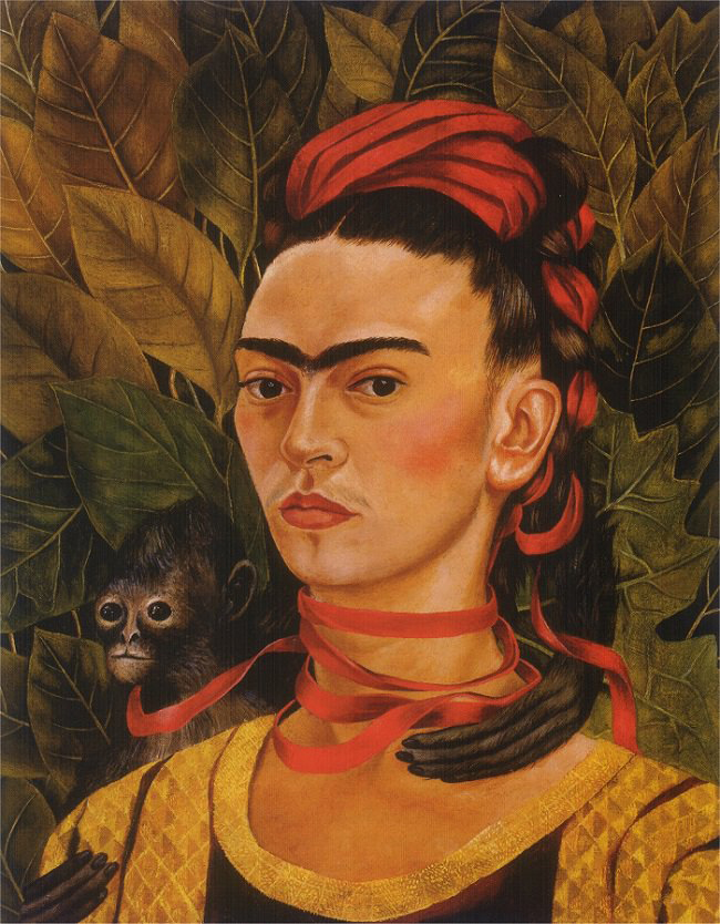 "Self Portrait with Monkey"" by Frida Kahlo Sold for $1 Million"