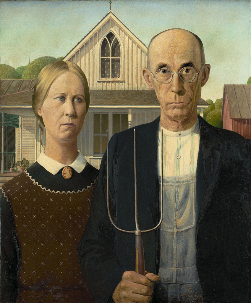 American Gothic Grant Wood Famous Painting