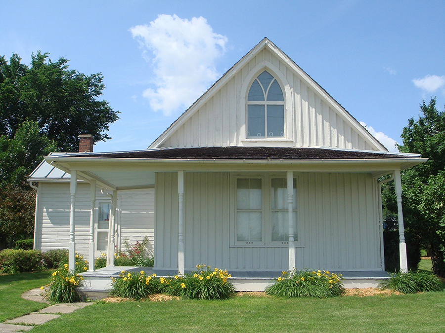 The house that Grant Wood painted in American Gothic