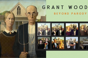 Grant Wood Parody