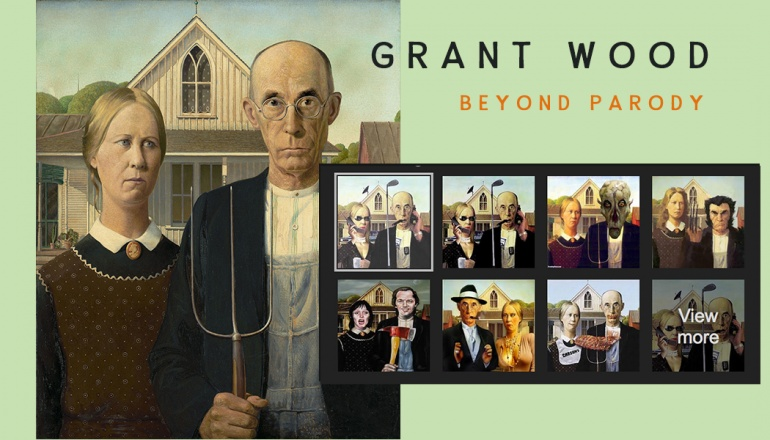 Grant Wood Parody