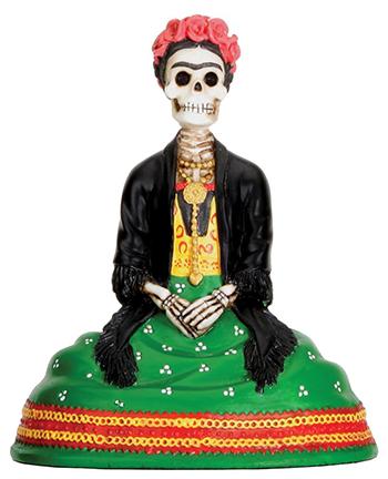 Mexican Dias De Los Muertos Sitting Lady Skeleton Day of The Dead Sculpture Figurine
