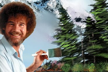 Bob Ross happy trees