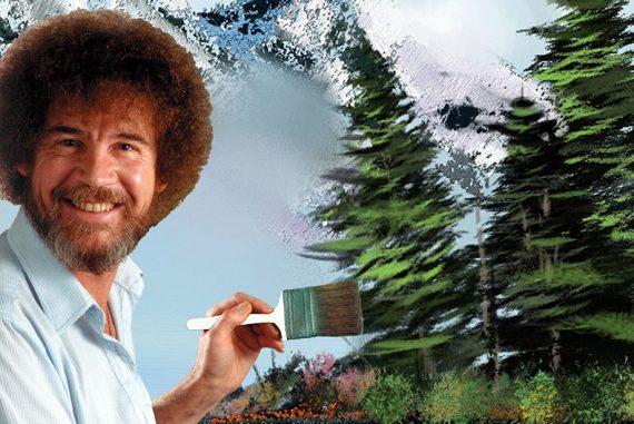 Bob Ross happy trees